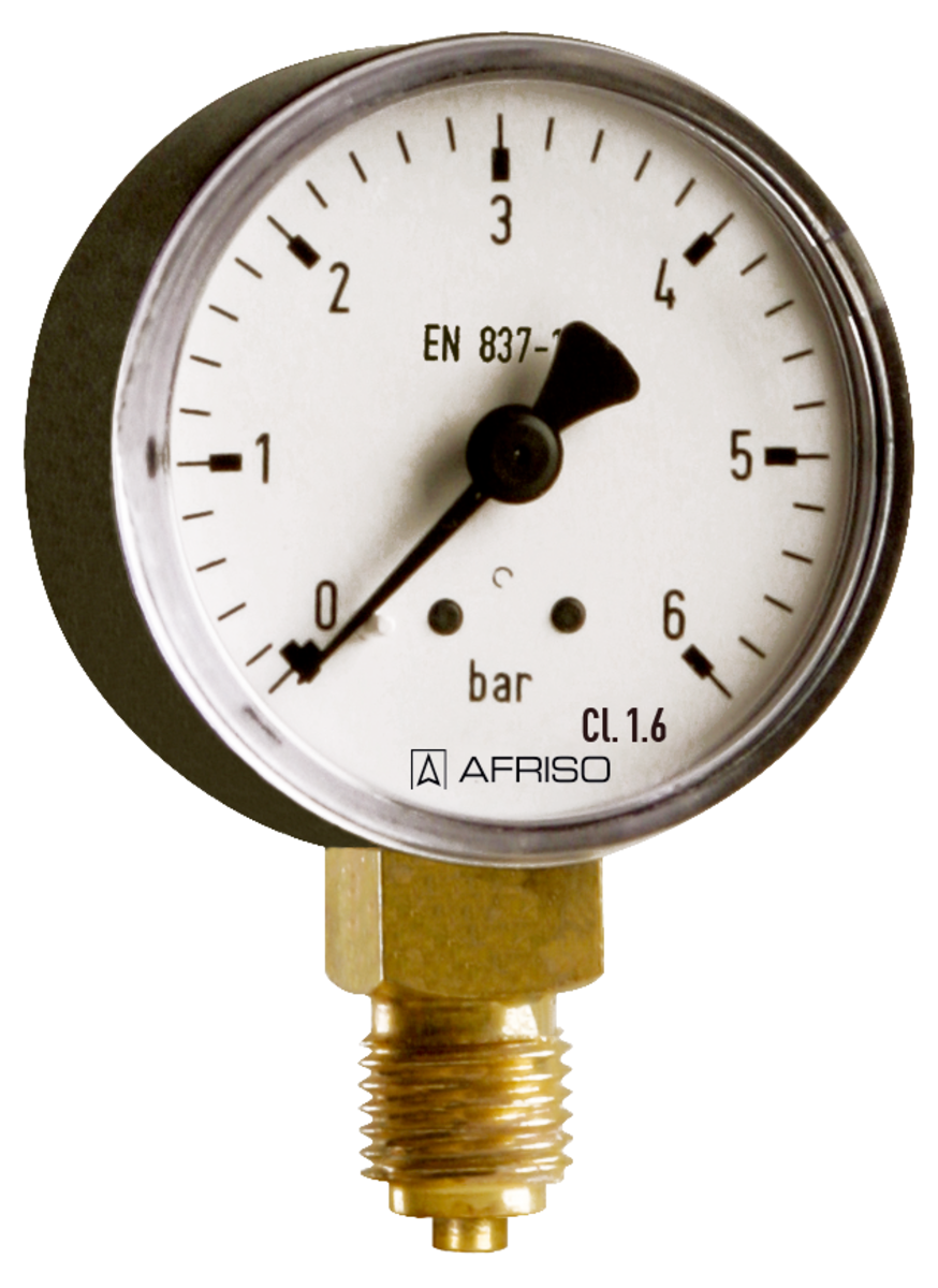 Standard Bourdon tube pressure gauges Type D1 - Afriso - Afriso