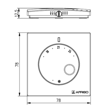 Afriso Room temperature sensor D - wired