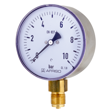 Afriso Bourdon tube pressure gauges for industrial applications Type D3