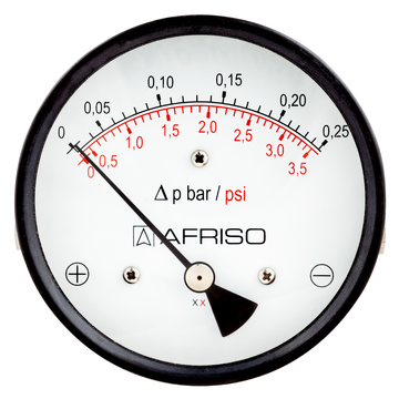 Afriso Magnetic piston pressure gauges for differential pressure - high overload protection