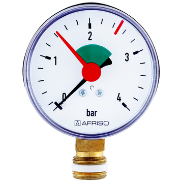 Afriso Bourdon tube pressure gauge HZ for heating/plumbing