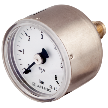 Afriso Stainless steel Bourdon tube pressure gauges Type D3