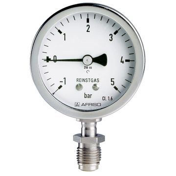 Afriso Bourdon tube pressure gauge for ultra-pure gas applications type D3