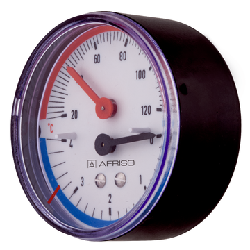 Afriso Combined thermometer/pressure gauge TM