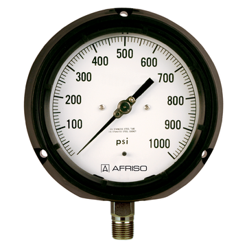 Afriso Standard Bourdon tube pressure gauges Process Gauges Type D6