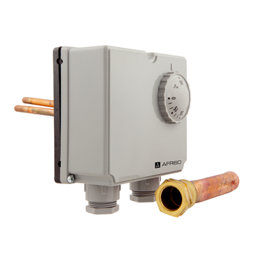 Afriso Twin thermostats with housing GDT