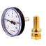 Afriso Bimetal thermometers BiTh K with brass thermowell