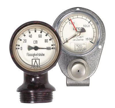 First measuring instruments in the 1950s:Level indicators for fuel oil tanks