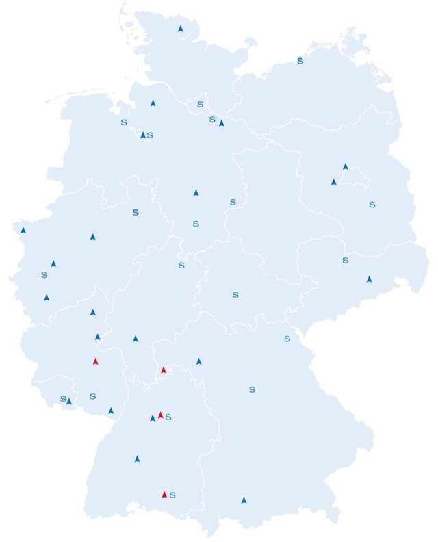 Sites in GermanyAFRISO support centres – close to you.