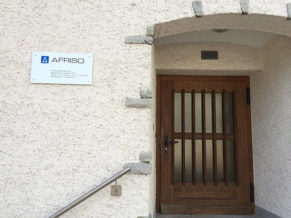 Eingangsbereich der AFRISO AG in der Schweiz